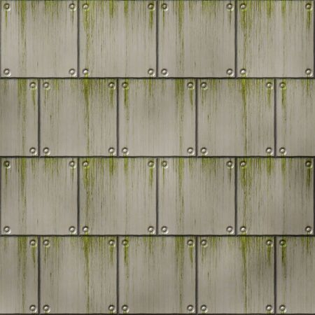 slime: a large image of old metal plate with marks and slime Stock Photo