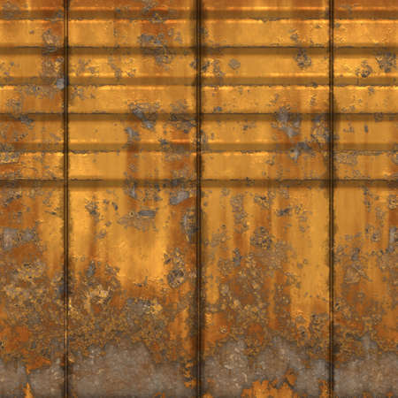 an old yellow rusty and grungy metal wall  photo