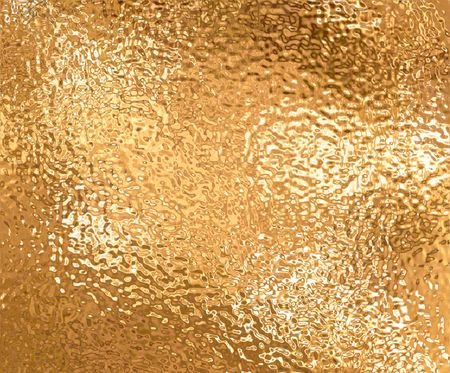 a very large sheet of fine crinkled gold aluminium foil photo