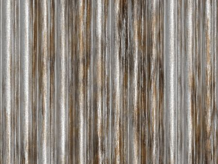rusting: a large background texture of rusting corrugated iron Stock Photo