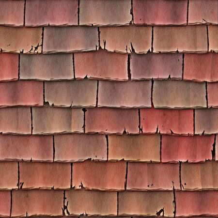 shingles: a large image of red roof tiles or shingles as a background Stock Photo