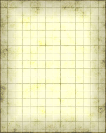 gridwork: an old piece of parchment paper with gridwork lines on it for maps