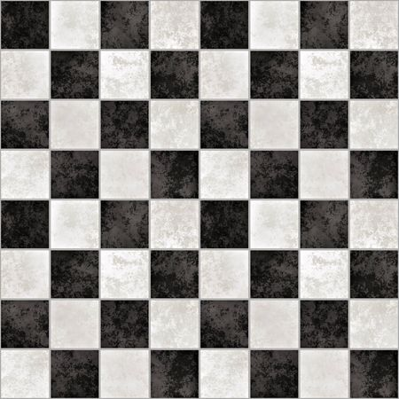 black stone: a large background of black and white marble tiles like a chessboard