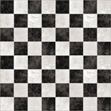 schwarz weiss kariert: eine gro�e Hintergrund der schwarz-wei�em Marmor Fliesen wie ein Schachbrett