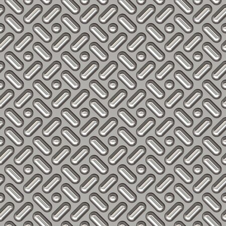 a large sheet of nice shiny chrome tread plate Stock Photo - 1354400