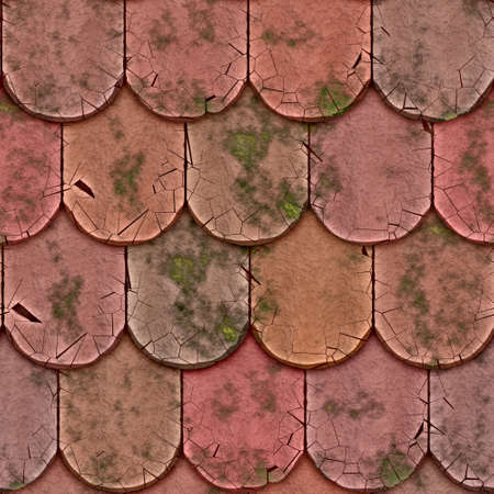 shingles: a large background of roof tiles in a row