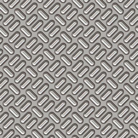 tread plate: a large sheet of nice shiny chrome tread plate