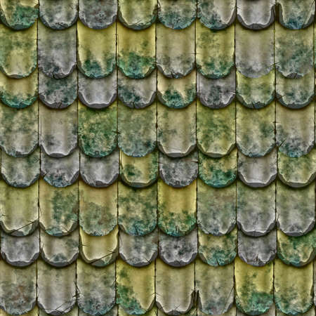 roof shingles: a large background of roof tiles in a row