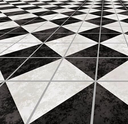 large image of checkered marble floor going off into the distance photo