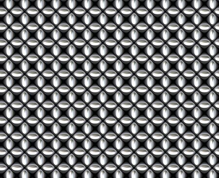 nickel: a large image of silver or chrome chain link mesh