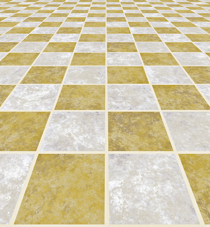 a large image of a checkered light marble floor