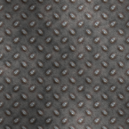 treadplate: large seamless image of old grungy worn tread plate