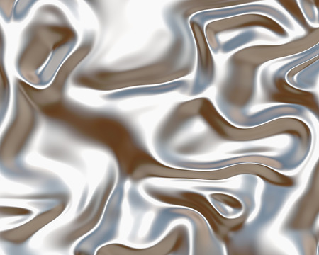 image of luxurious flowing silk or satin fabric in silver Stock Photo
