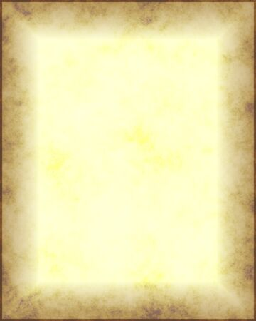 yellowing: a large sheet of yellowing parchment with dirty borders