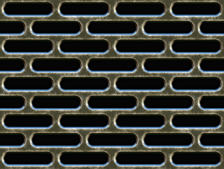 vent: large image of old weathered metal grill