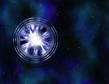 wormhole: image of a wormhole or vortex in space Stock Photo