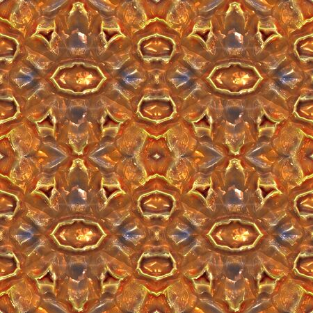 hammered: a nice indian stlye abstract design in hammered copper   Stock Photo