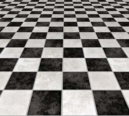 A Large Image Of Black And White Marble Floor Tiles Stock Photo