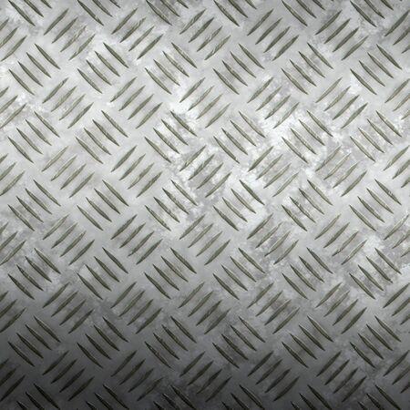 tread plate: image of old worn iron tread plate