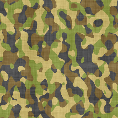 large seamless image of cloth printed with military camouflage pattern Stock Photo