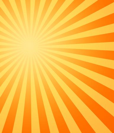 paliza: imagen amarilla y anaranjada grande del sol caliente del verano que bate abajo