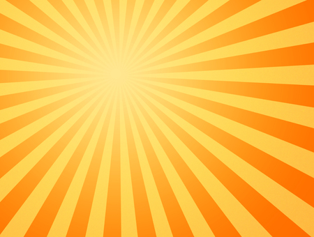heatwave: large yellow and orange image of the hot summer sun beating down