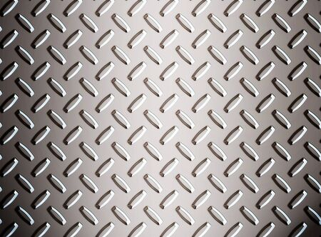 a large seamless sheet of alluminium or nickel diamond or tread plate Stock Photo - 1544229