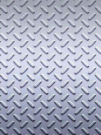 tread plate: a very large sheet of cool silver or stainless steel diamond or tread plate Stock Photo