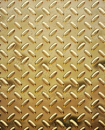 a very large sheet of roughened gold tread or diamond plate photo