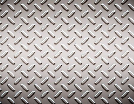 a large seamless sheet of alluminium or nickel diamond or tread plate Stock Photo - 1544232