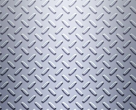 a very large sheet of cool silver or stainless steel diamond or tread plate Stock Photo - 1566775