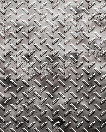a very large sheet of rough black diamond plate with pits and marks Stock Photo - 1566779