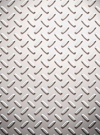 a large seamless sheet of alluminium or nickel diamond or tread plate Stock Photo - 1583600