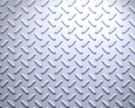 a very large sheet of cool silver or stainless steel diamond or tread plate Stock Photo - 1637125