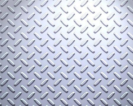 diamondplate: Un grande foglio di raffreddare argento o in acciaio inox diamante o piastra battistrada  Archivio Fotografico