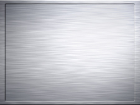 brushed aluminium: large framed sheet of brushed metal texture Stock Photo