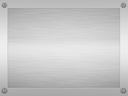 sheet of rendered brushed steel or metal in an alloy frame photo