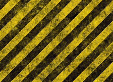 hazard stripes: old grungy yellow hazard stripes on black road