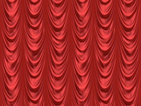 luxurious red velvet curtains such as on a stage or theatre