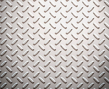 a large seamless sheet of alluminium or nickel diamond or tread plate Stock Photo - 1657799