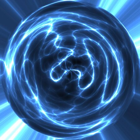 ball lightning: large abstract image of electricity or lightning ball or orb Stock Photo