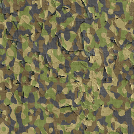 flaking: image of old flaking and peeling camouflage material