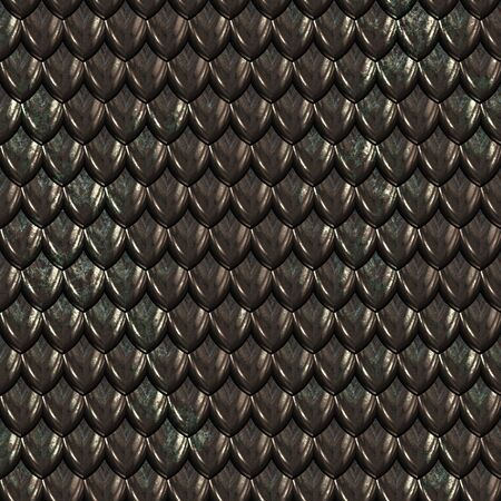 reptile skin: a large image of black shiny dragon scales or hide
