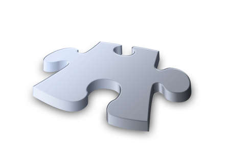 the last: the last piece of the puzzle in nice soft metallic texture Stock Photo