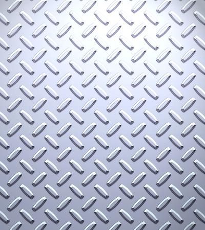 diamondplate: un gran foglio di raffreddare in argento o in acciaio inox diamante o battistrada piatto