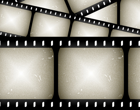 negativity: abstract composition of movie frames or film strip