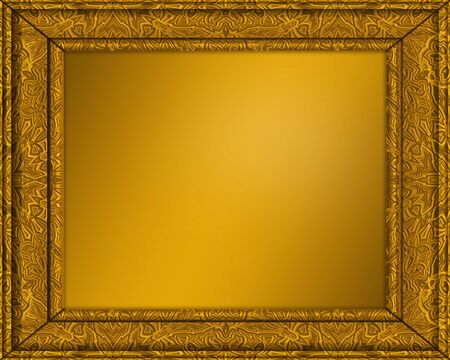 an old gold picture or certificate frame with golden centre photo