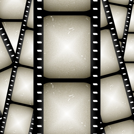 exposed: abstract composition of movie frames or film strip
