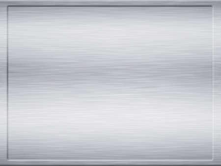 framed: large framed sheet of brushed metal texture Stock Photo