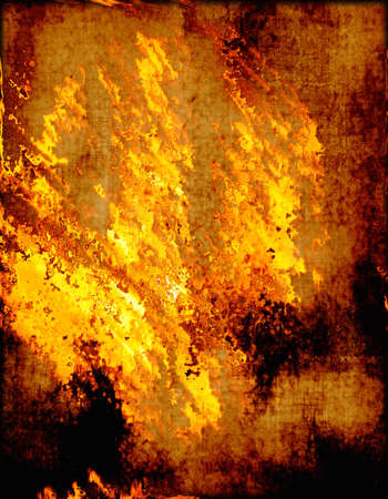 burning paper: a large image of old and worn paper on fire